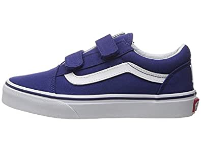 VANS KIDS OLD SKOOL V (MLB) SHOES LOS ANGELES DODGERS/BLUE SIZE 1