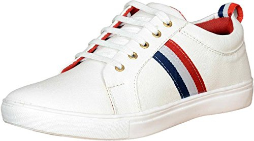 a53e0622275b T-Rock Men s White Sneakers Shoes  Buy Online at Low Prices in India ...