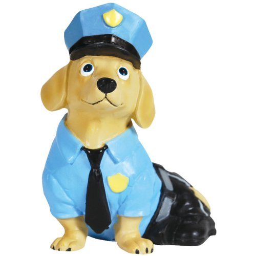 Westland Giftware Hot Diggity Resin Figurine, 3-Inch, Policeman Doxie