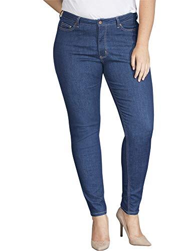 Dickies Women's Perfect Shape Denim Jean - Skinny Stretch Plus Size, Stonewashed Indigo Blue, 22WRG