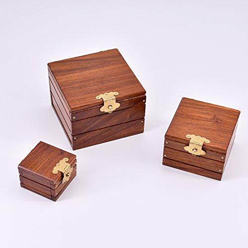 Doowops Super Locked Boxs - Professional (rosaWOOD EDITION) Magic Tricks Magician Stage Gimmick Prendi in prestito l'oggetto in Box Magie