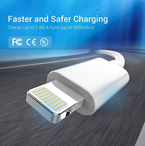 iPhone Charging Cable - MFi Certified Lightning Cable - Novtech 3Pack 3FT 6FT 9FT USB Charging Cable for iPhone 13 12 11 Mini Xs Max XR X 8 7 6 Plus SE 2020 iPad Pro iPod Airpods - White