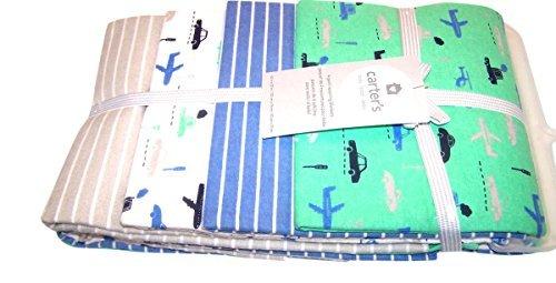 Carter Receiving Blanket For Boys Travel Theme 4 Pack