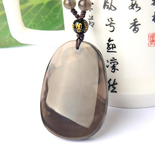 Natural ice kind of Obsidian sheep//Rabbit Lucky mascot Pendant