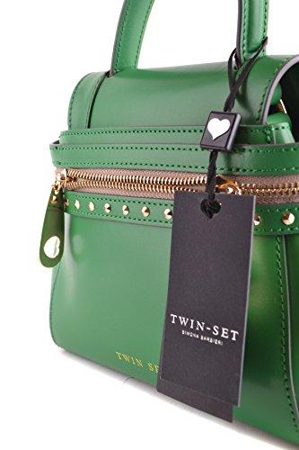 Twin-Set Borsa A Mano Donna MCBI302113O Pelle Verde