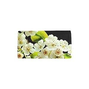 Unique Custom Spring Flowers Beauty Women Trifold Wallet Long Purse Credit Card Holder Case Handbag
