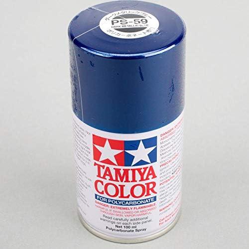 Tamiya America, Inc Polycarbonate PS-59 Dark Metallic Blue, Spray 100 ml, TAM86059