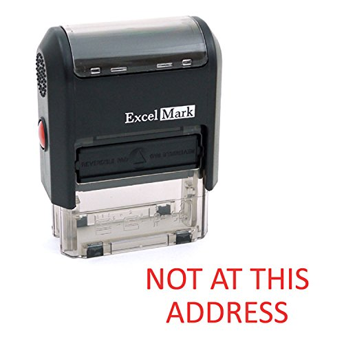 NOT at This Address Self Inking Rubber Stamp - Red Ink (ExcelMark A1539)]()