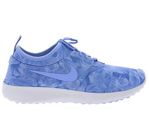 Nike Wmns Juvenate Flo Print, Zapatillas de Deporte para Mujer Azul (Aluminum / Aluminum-White)