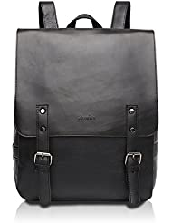 Zebella Pu Crazy Horse Leather-Like Vintage Womens Backpack School Bag