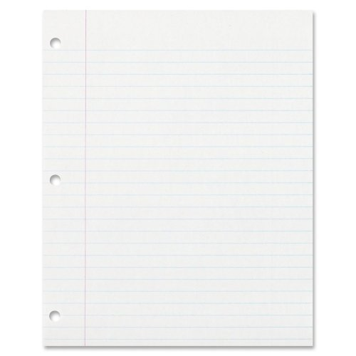 Pacon Ecology Recycled Filler Paper Wide Ruled Letter, White, 150 Sheet, 150 per Pack
