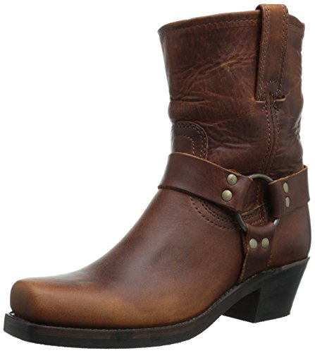 FRYE Women's 8R-WSHOVN Harness Boot,  Cognac, 10 M US