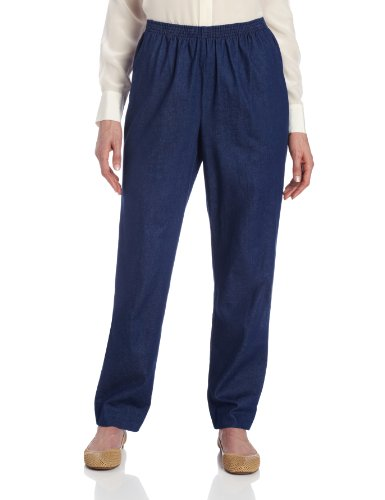Alfred Dunner Petite Clothes - Alfred Dunner Women's Medium Length Pant,Denim,18
