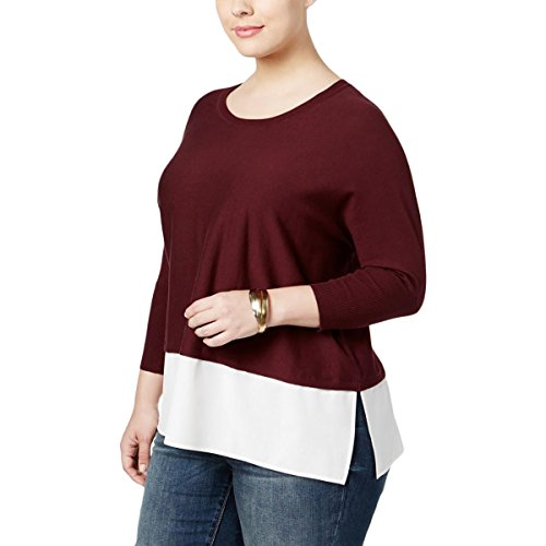 Dolman Sleeve Shrug - Style & Co. Womens Plus Layered Dolman Sleeves Pullover Sweater Purple 0X