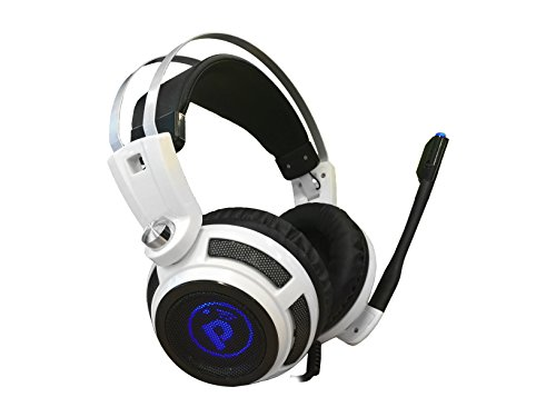 Headset System Usb (Pyle PC Wired Gaming Headphones - Professional Gamer USB Stereo Headset and Microphone for Windows Mac Computer Video Games - Braided Cable and 7.1 Virtual Surround Sound Audio and Mic Set - PGPHONE80)