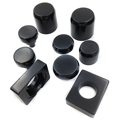 Motorcycle Motorcycle Black Fork Axle Caps Covers For 2006-2009 Kawasaki Zx14 Zx14R Zx-14R