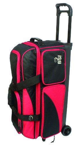 Bsi Triple Ball Roller Bowling Bag schwarz / rot