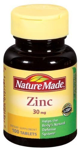 Nature Made Zinc 30 mg Tabs, 100 ct (Pack of 3)