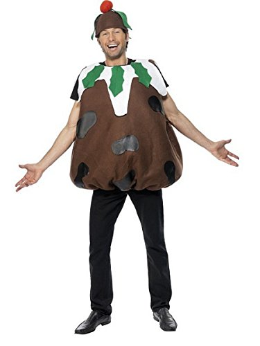 Smiffy's Men's Christmas Pudding Costume, Tabard & Hat, One Size, Colour: