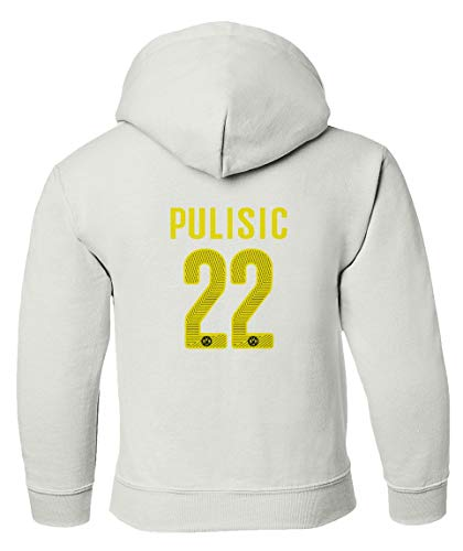 3120d3673 Amazon.com   Spark Apparel New Soccer Jersey Style Shirt  22 Pulisic Boys  Girls Youth Hooded Sweatshirt   Sports   Outdoors