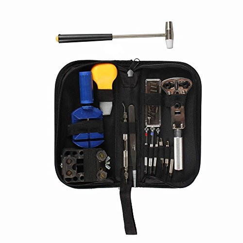 new-watch-repair-13-pcs-tool-kit-opener-link-remover-spring-bar-free-hammer-w-carry-case-free-shippi
