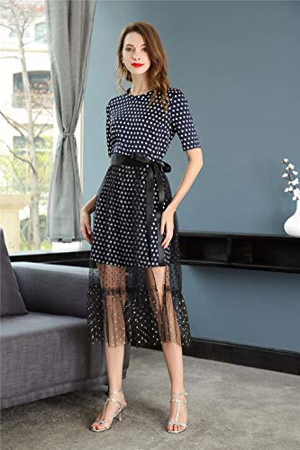 Dresses Dress Women`s Neck Short Scoop Shortl Casual Sleeve cotyledon nE8xaZa