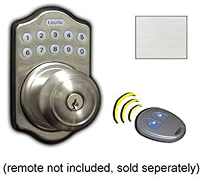 Lockey USA E930SC Edigital Keyless Electronic Knob Lock, Satin Chrome Finish