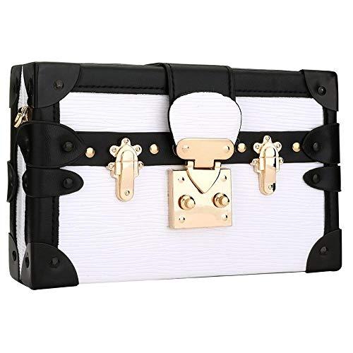 (Designer Crossbody Bag for Women Fashion Bear Evening Clutch Purse Shoulder Handbags (Pure white) )