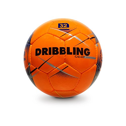 Futsal Indoor, Official Size 4, Galaxy Soccer Ball, Orange.
