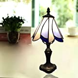 RXY-LAMP Resin Base Stained Glass Lampshade Personality Retro European Study Bedroom Living Room Night Light