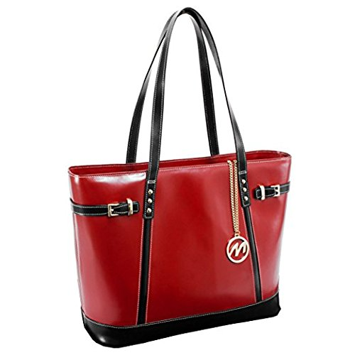 Mcklein Da Shoulder Borsa Rosso 38 Red Leather Cm Bag Serafina Tote red Spiaggia rWZrn