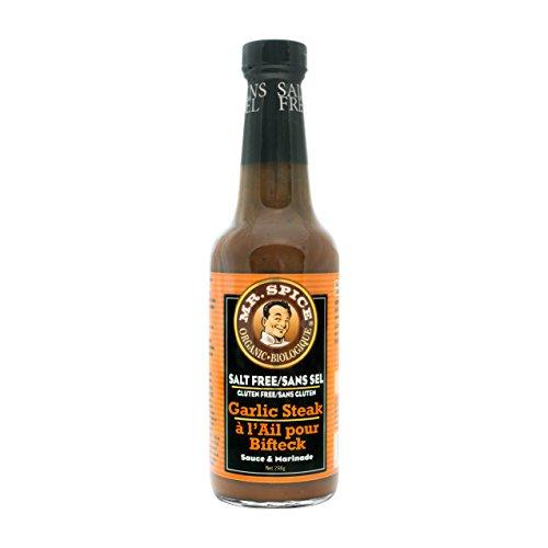 Mr. Spice Organic Salt-Free Sauce - Garlic (Free Steak)