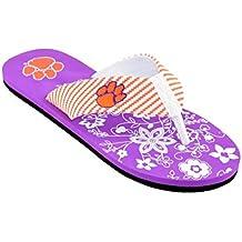 Campus Footnotes Women's Zig Zag Floral Flip Flops