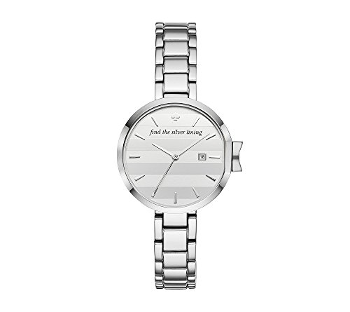 kate spade new york Women's 'Park Row' Quartz Stainless Steel Casual Watch, Color:Silver-Toned (Model: - Spade Silver Kate