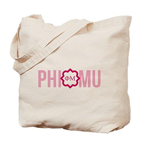 CafePress–Phi Mu letras–Gamuza de bolsa de lona bolsa, bolsa de la compra
