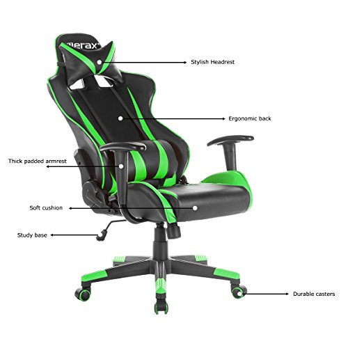 Merax Racing Gaming High-Back Chair Computer Ergonomic Desig