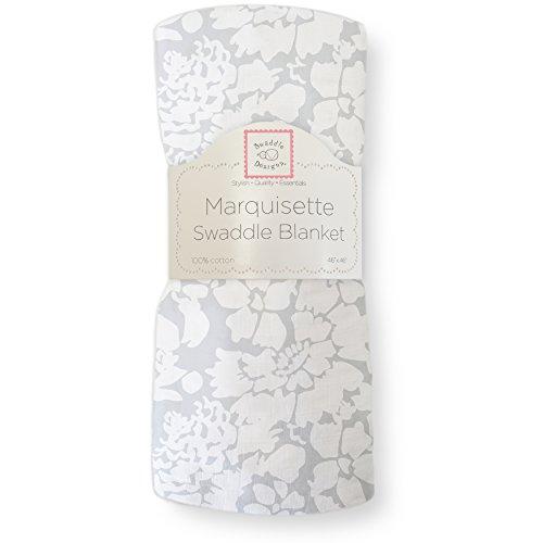 SwaddleDesigns Marquisette Swaddling Blanket Sterling