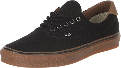 Vans Unisex Era 59 Sneakers, (C&L) Black/Classic Gum, Men's 5, Women's 6.5 Medium by Vans