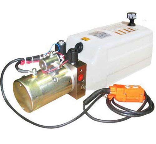 """Maxim Hydraulic Power Unit (12V DC, Double Acting): 1.3 GPM Flow, 1 Gallon(4 QT) Poly Tank @2500 PSI #6 SAE Port Size and Solenoid Operated with HPU Dimensions: 16.7"""" L x 7"""" W x 8"""" H"""