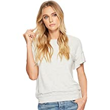 Michael Stars Women's Elevated French Terry Flutter Sleeve Tee