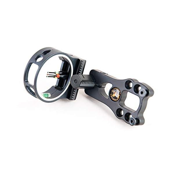 "3 Pin Brass Pin Compound Bow Sight Aluminum Sight Optics 0.029/"" Fiber Brass Pin"