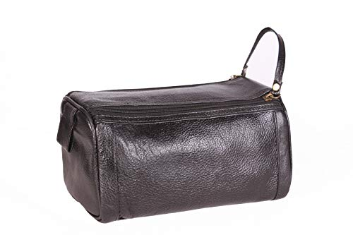 (HC Covers Toiletry Bag Shaving Kit Dopp Kit Travel Case Travel Dopp Kit for men's Color Black)