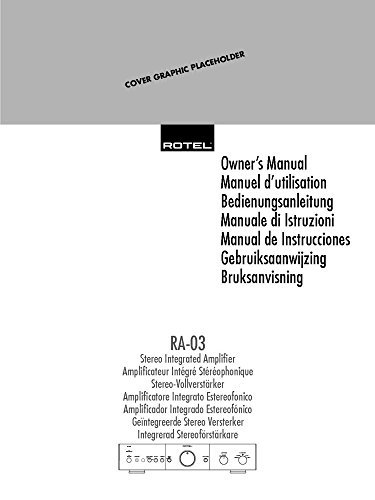 Rotel RA-03 Amplifier Owners Instruction Manual Reprint: Amazon.com: Books