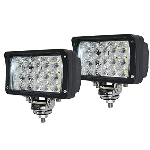 - 12volt Led Work Lights,2PACKS 45w 6inch Led Lights Bar Led Flood Lights12v-30v +Flush Mount Brackets Led Lights for Trucks for Off-road 4x4, ATV, SUV, UTV,Boat -Waterproof