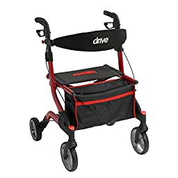 Drive Medical rtl10555rd I-Walker Euro Style Rollator, Red