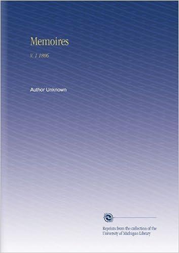 En ligne téléchargement Memoires: V. 1 1806 pdf, epub ebook