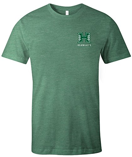 - NCAA Hawaii Rainbow Warriors Simple Mascot Short Sleeve Triblend T-Shirt, Small,Grass