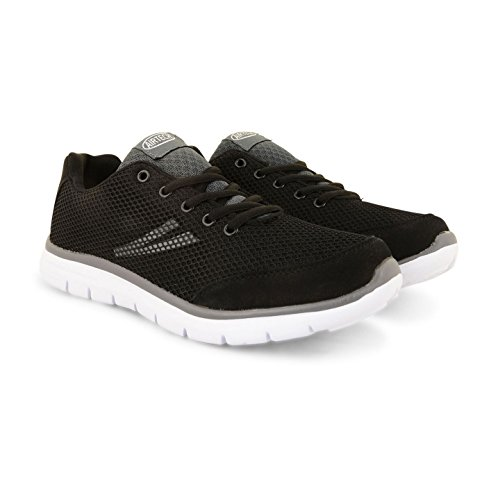 Air Tech Mens Fitness Sports Lightweight Lace up Running Trainers Gym Shoes Size Black/Grey jvV9J04