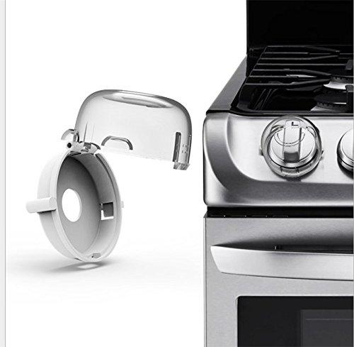 YOYOSTORE 2 piezas universal para estufa de cocina, cubiertas de pomos de seguridad para bebé, horno, estufa de gas y...