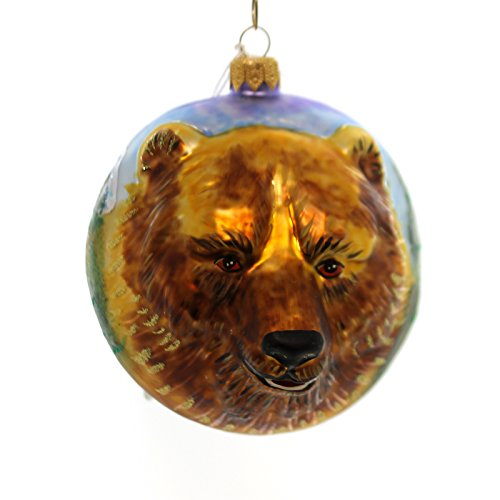 Christina's World GRIZZLY BEAR FIGURAL Forest Mountains Lake Ornament (Grizzly Bear Ornament)
